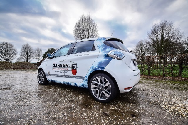 Renault ZOE Heckansicht links