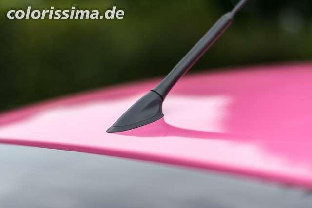 Dach Antenne - Ford Fiesta Teilfolierung mit 3M 1080 Hot Gloss Pink