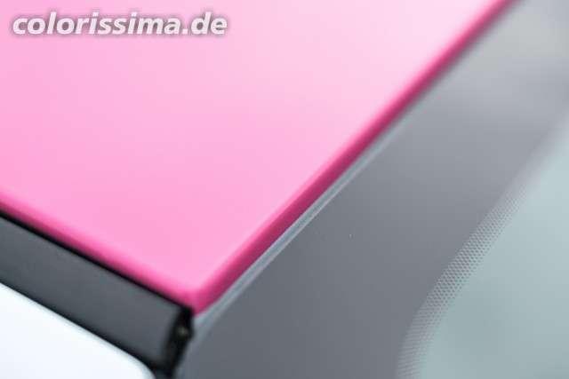 Dachkante - Ford Fiesta Teilfolierung mit 3M 1080 Hot Gloss Pink